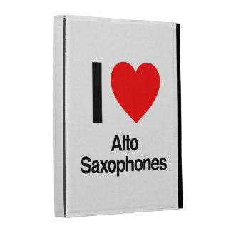 i love alto saxophones iPad folio covers