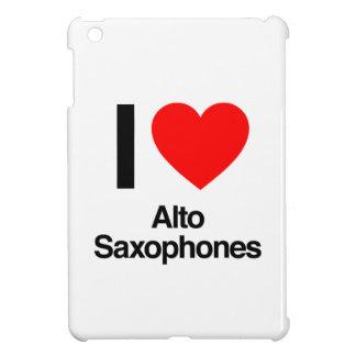 i love alto saxophones iPad mini case