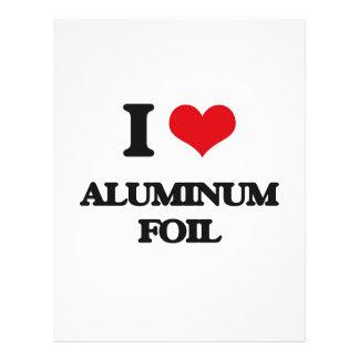 I love Aluminium Foil 21.5 Cm X 28 Cm Flyer