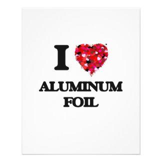 I love Aluminum Foil 11.5 Cm X 14 Cm Flyer