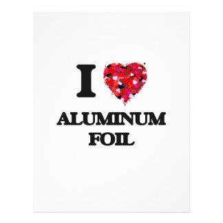 I love Aluminum Foil 21.5 Cm X 28 Cm Flyer