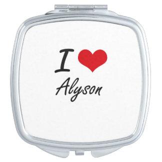 I Love Alyson artistic design Vanity Mirrors