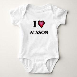 I Love Alyson Baby Bodysuit