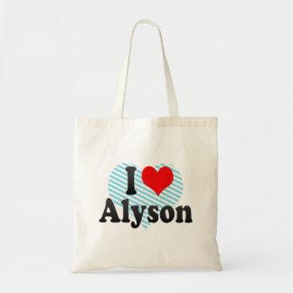 I love Alyson Canvas Bag