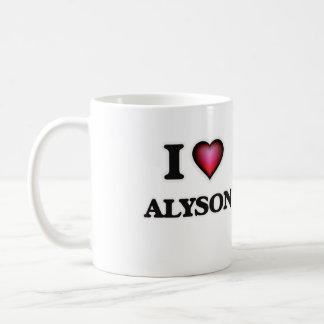 I Love Alyson Basic White Mug