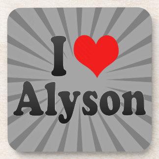 I love Alyson Beverage Coasters