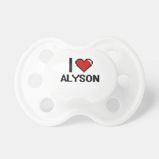 I Love Alyson Digital Retro Design BooginHead Pacifier
