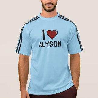I Love Alyson Digital Retro Design T-shirts