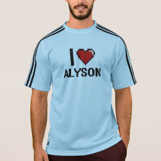 I Love Alyson Digital Retro Design T Shirts