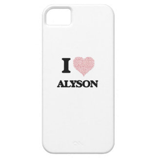 I love Alyson (heart made from words) design Barely There iPhone 5 Case