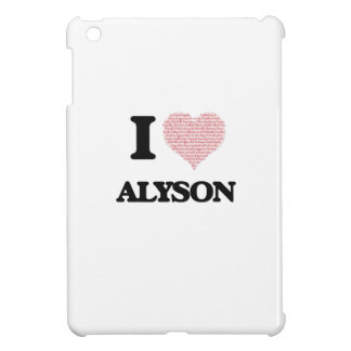 I love Alyson (heart made from words) design Case For The iPad Mini