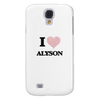 I love Alyson (heart made from words) design Galaxy S4 Case