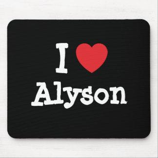 I love Alyson heart T-Shirt Mouse Mats