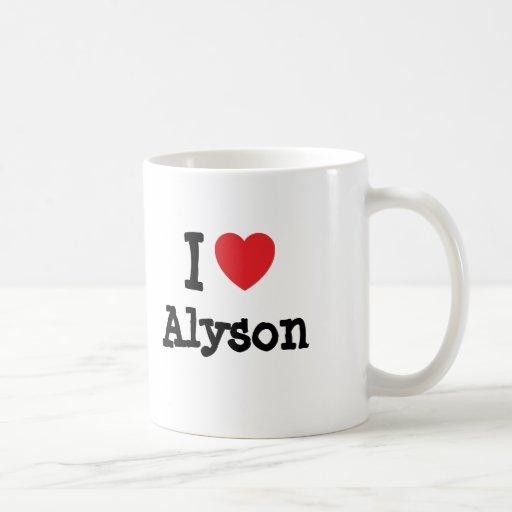 I love Alyson heart T-Shirt Mug