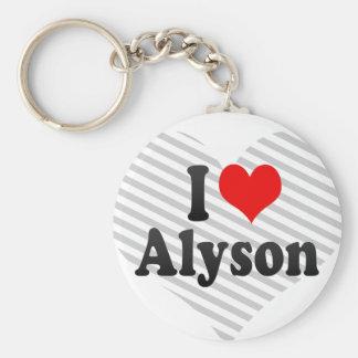 I love Alyson Key Chains