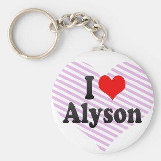 I love Alyson Key Chain