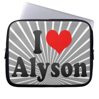 I love Alyson Laptop Sleeve