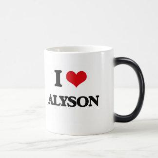 I Love Alyson Morphing Mug