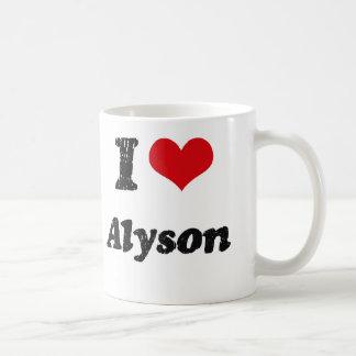 I Love Alyson Mugs