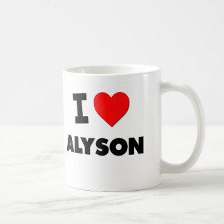 I Love Alyson Coffee Mugs