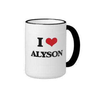 I Love Alyson Ringer Mug