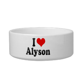 I love Alyson Pet Bowl