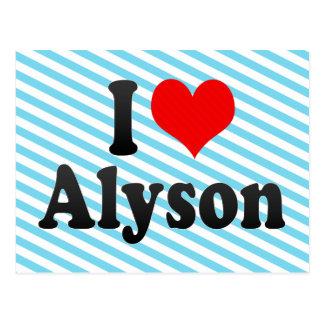 I love Alyson Post Cards