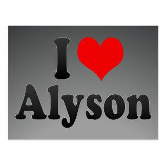 I love Alyson Postcards