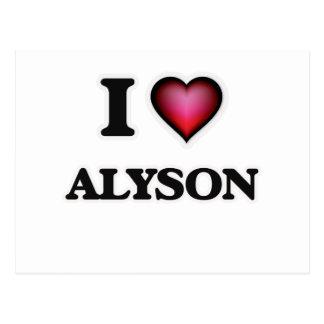 I Love Alyson Postcard