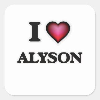 I Love Alyson Square Sticker