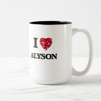I Love Alyson Two-Tone Mug