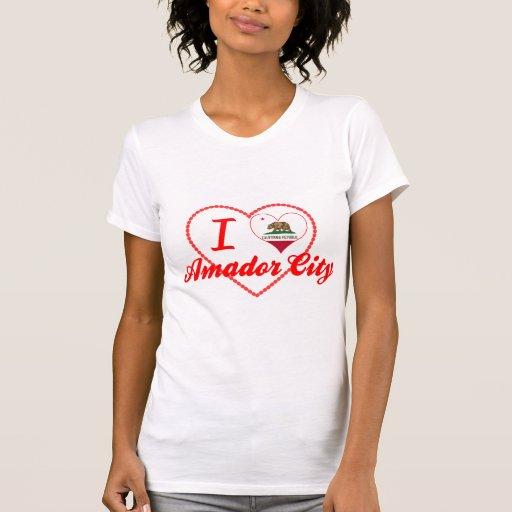 I Love Amador City, California Tee Shirts