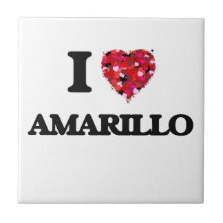 I love Amarillo Texas Small Square Tile