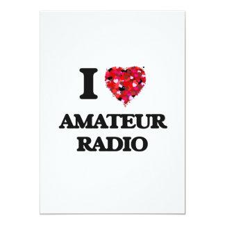 I Love Amateur Radio 13 Cm X 18 Cm Invitation Card