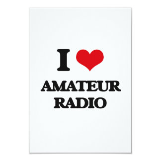 I Love Amateur Radio 9 Cm X 13 Cm Invitation Card