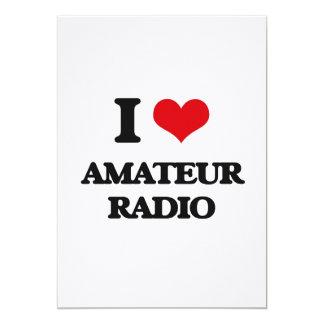 "I Love Amateur Radio 5"" X 7"" Invitation Card"