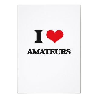 I Love Amateurs 13 Cm X 18 Cm Invitation Card