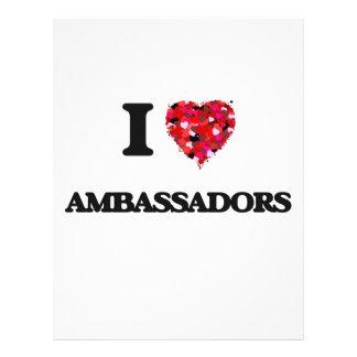 I love Ambassadors 21.5 Cm X 28 Cm Flyer