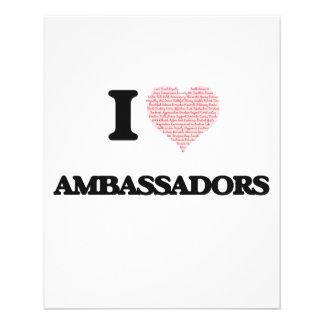 I love Ambassadors (Heart made from words) 11.5 Cm X 14 Cm Flyer
