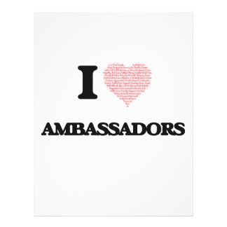 I love Ambassadors (Heart made from words) 21.5 Cm X 28 Cm Flyer
