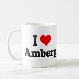 I Love Amberg, Germany. Ich Liebe Amberg, Germany Basic White Mug