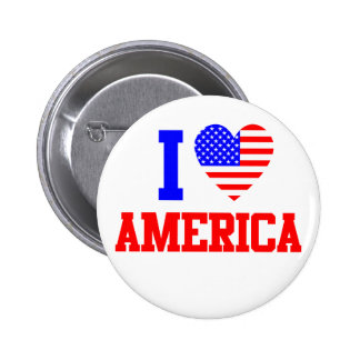 I Love America 6 Cm Round Badge