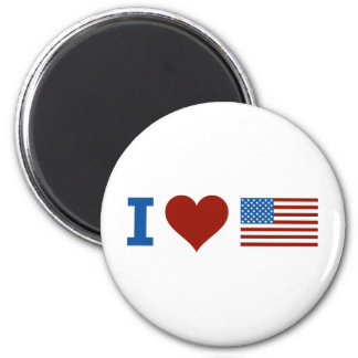 I Love America 6 Cm Round Magnet