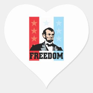 I Love America - Abraham Lincoln President Heart Sticker