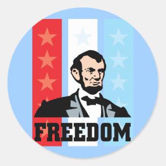 I Love America - Abraham Lincoln President Round Sticker
