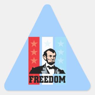 I Love America - Abraham Lincoln President Triangle Sticker