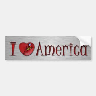 I Love America Car Bumper Sticker