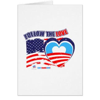 I love America - Elect Obama Now Greeting Card