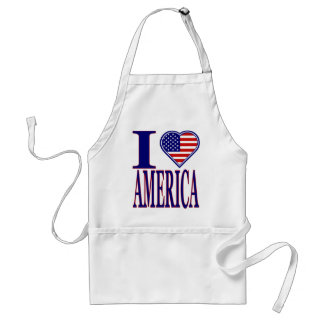 I Love America forth Of July Edition Apron
