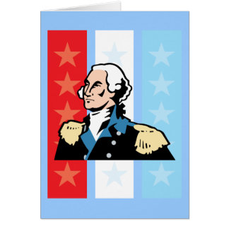 I Love America - George Washington President USA Greeting Card